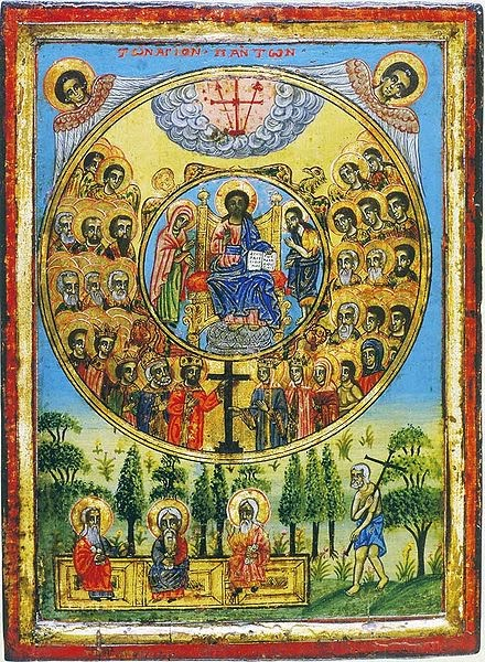 Orthodoxy and Communion with the Saints dans immagini sacre All-Saints-icon