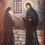 Great-Martyr St. Euphemia who approved the Council of Chalcedon visits St. Paisios the Hagiorite